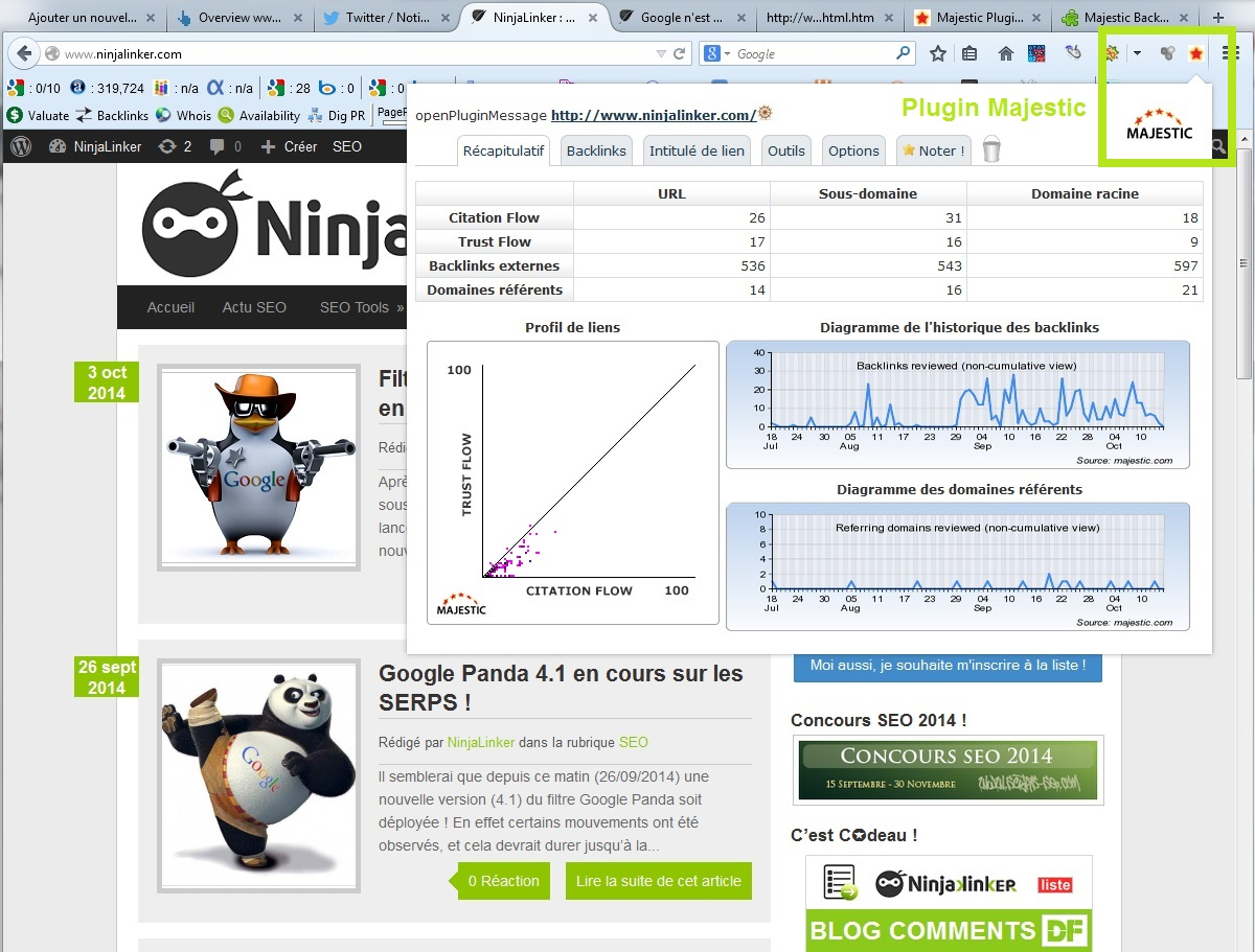 "Plugin Majestic SEO ""Browser Plugin"" & Toolbar ~ NinjaLinker"